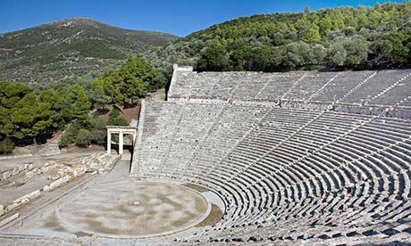 the amphitheatre of Epidauros
